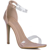 Spylovebuy  MISRI Open Peep Toe Barely There High Heel Stiletto Sandals Sho  women's Court Shoes in Beige