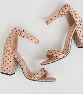 Camel Spot 2 Part Block Heels New Look