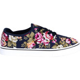 Krisp  Floral Lace Up Plimsolls {Blue }  women's Shoes (Trainers) in Blue
