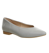 Office Poison Point Ballet GREY LEATHER