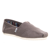 Toms Classic Slip On ASH GREY CANVAS