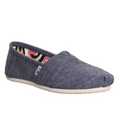 Toms Seasonal Classic Slip On BLUE CHAMBRAY