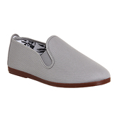 Flossy Elastic Pump LIGHT GREY CANVAS
