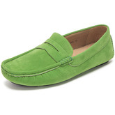 Reservoir Shoes  Moccasins suede look to put on  men's Loafers / Casual Shoes in Green