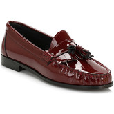 Tower  Womens Burgundy Patent Leather Tassel Loafers  women's Loafers / Casual Shoes in Red