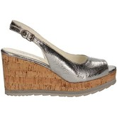 Apepazza  LCK03 Wedge sandals Women Silver  women's Sandals in Silver
