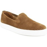 J.bradford  Slipper  Cognac Leather JB-TROY  men's Slip-ons (Shoes) in Brown