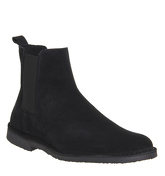 Ask the Missus Danish Chelsea Boot BLACK SUEDE BLACK SOLE