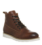 Ask the Missus Eton Wedge Lace Boot BROWN LEATHER