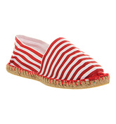Office Solemate Espadrille RED WHITE STRIPE