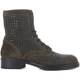 Lemaré  Lemaré green leather biker with studs  men's Low Ankle Boots in Green
