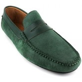J.bradford  Loafer  Green Leather JB-BERFIN  men's Loafers / Casual Shoes in Green
