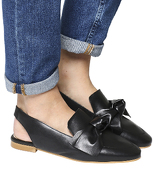 Office Femme Bow Slingback BLACK LEATHER