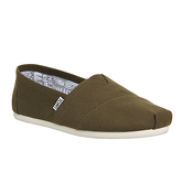 Toms Classic MILITARY OLIVE CANVAS