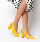 Office Mimi Chunky Slingback YELLOW LEATHER