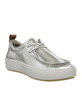 Clarks Originals Priddy Walla  Shoe SILVER LEATHER