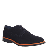 Ask the Missus Cosmos Derby Lace Up NAVY SUEDE ORANGE RAND