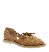 Chamula Merida Lace Sandals NATURAL LEATHER