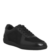 Ask the Missus Gourmet Sneaker BLACK LEATHER SUEDE
