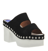 Jeffrey Campbell Westville Clogg BLACK NUBUCK WHITE SOLE