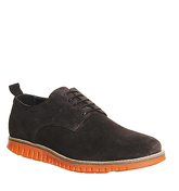 Ask the Missus Data Lace Up BROWN SUEDE ORANGE SOLE