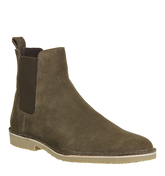 Ask the Missus Danish Chelsea Boot KHAKI SUEDE