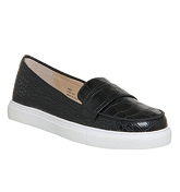 Office Lily loafers Trainer BLACK CROC