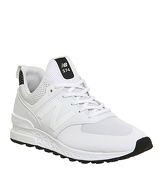 New Balance 574s WHITE MONO TECH