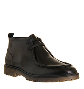 Ask the Missus Anomoly Apron boots BLACK LEATHER