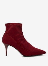 Womens Red And Burgundy 'Atomic' Ankle Boots- Red, Red