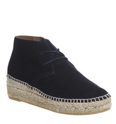 Gaimo for OFFICE Gineva Espadrille boots NAVY SUEDE