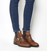 Office Joyce Fringed Boot BROWN LEATHER