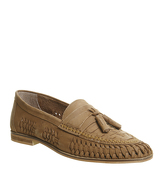 Office Finsbury Woven Tassle Loafer TAN WASHED LEATHER