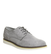 Ask the Missus Generate Wedge Derby GREY SUEDE