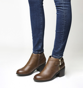 Office Academy Double Zip Boot TAN
