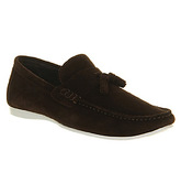Ask the Missus Hollywood Slip On CHOCOLATE SUEDE