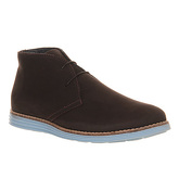 Ask the Missus Jupiter Chukka boots BROWN NUBUCK PASTEL BLUE SOLE