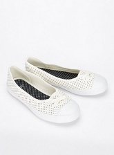 Extra Wide Fit Cream Spotty Low Skater Shoes, Cream (wide!)