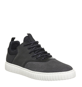 Ask the Missus Galactic Sneaker GREY SUEDE BLACK LEATHER