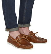 Ask the Missus Draft Boat Shoe TAN LEATHER