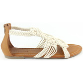 London Rag  Women's Open Toe Flat Sandals  women's Sandals in Beige