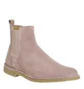 Ask the Missus Danish Chelsea Boot PINK SUEDE