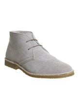 Office Fahrenheit Desert Boot STONE CANVAS
