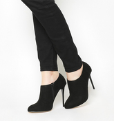 Office Hitched High Round Toe Shoeboot BLACK