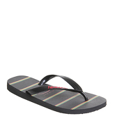 Havaianas Top Stripes Logo BLACK BLACK RED