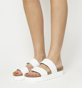 Office Magnetic Double Strap Flatform Footbed WHITE