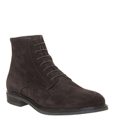 Office Insect Lace Boot CHOCOLATE SUEDE