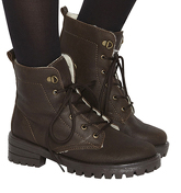 Office Landslide Hiker Lace Up Boots BROWN SUEDE