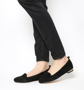 Office Royal Slipper Cut loafers BLACK SUEDE