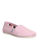 Toms Seasonal Classic Slip On PINK ICING